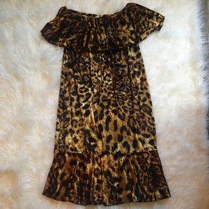 LulaRoe Off Shoulder Velvet Dress